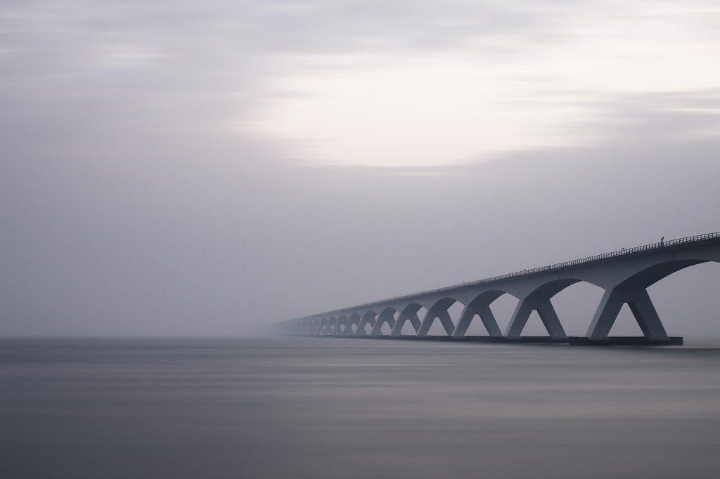 arches, bridge, concrete structure