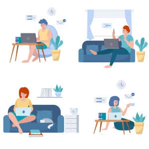 remote, work, office