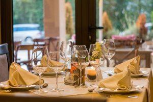 restaurant, table setting, table