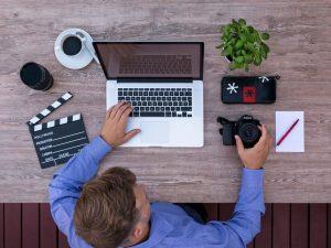 youtuber, computer, filmmaker